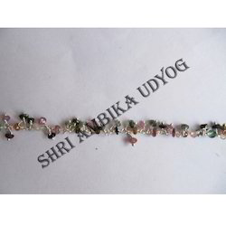 Multi Tourmaline Cluster Beads Chain