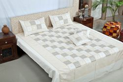 Silk Embroidery Bedsheet
