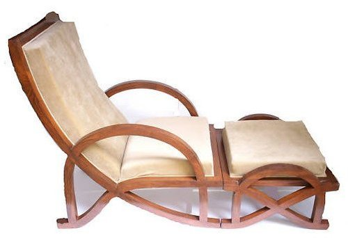 Relaxing Chair With Foot Stool   Wooden Hand Made