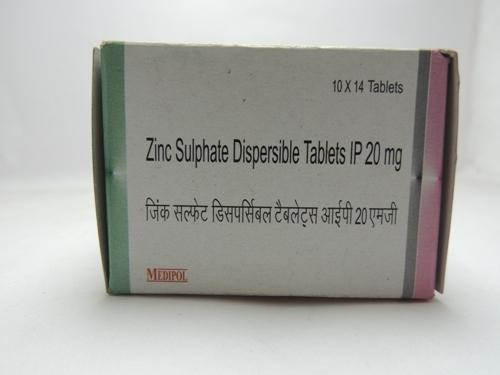 Zinc Sulphate Dispersible Tablets Ip Medipol Pharmaceutical India