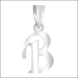 925 Sterling Sliver Alphabetical Pendants B