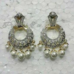 American Diamond Earring with Stone