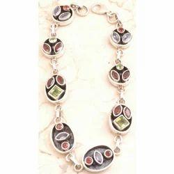 Amethyst Bracelet Ion 925 Sterling Sliver