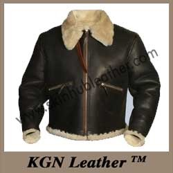 8839f104f Sheepskin Fake Fur Russian Flight Jacket - KGN Leather, Mumbai | ID ...