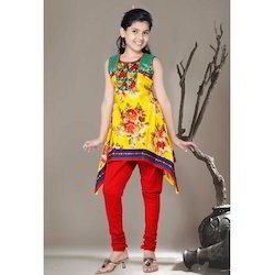 C Cut Girls Churidar Suit