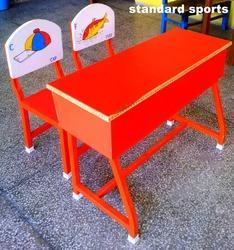 Kids Desk Box Top With Two Chairs