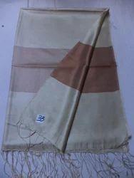 Pure Silk Plain Weave Reversible Border Stoles