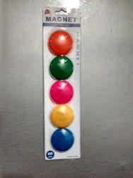 Multicolor Plastic Whiteboard Magnet Button, Round