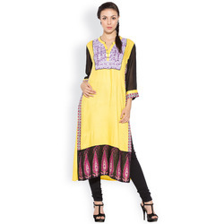 Classic Indian Fashion Long Designer Ladies  Kurta