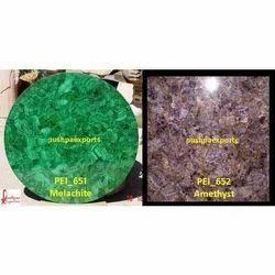Malachite and Amethyst Stone Slab