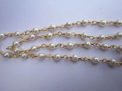 White Round Pearl Bead, for Jewelry, Size: 3 Mm