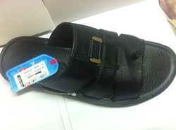 PU Black Gents Slipper
