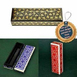 Hand Painted Wooden Pencil Boxes - Customized Painting, For Decoration