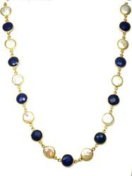Gold Plated Sapphire Necklace