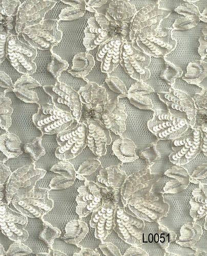 Nylon And Polyester Beaded Embroidered Lace Handcrafted Yes Rs