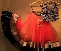 Orange Colour Anarkali Dress