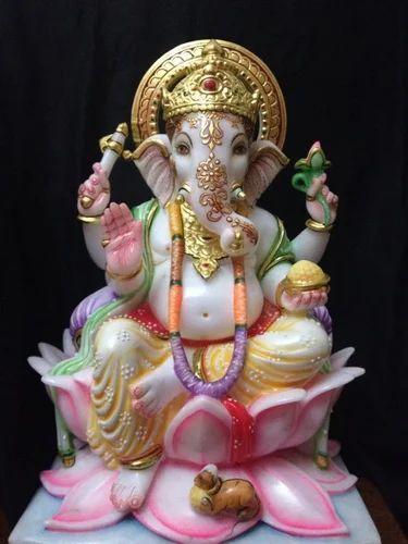 Marble Ganesh Statues - Makrana Marble Ganesh Ji Statue