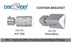 Silver Curtain Bracket