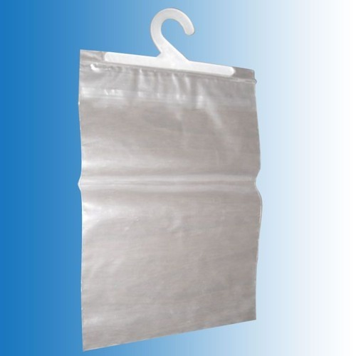 PVC Pouch with Hanger, Thickness: 40-100 Microns