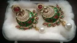 Pearl and Kundan Earrings