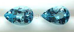 Sky Blue Topaz Faceted Pear Cut Gemstone