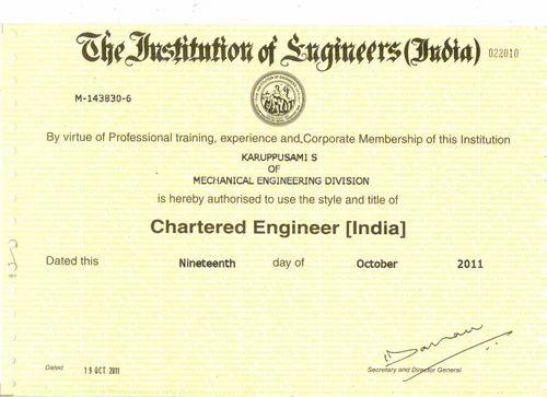 mechanical engineer certification