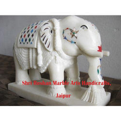 White Marble Elephant Statue, Size/Dimension: 1 X 1 Ft