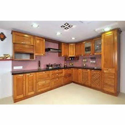 L Wooden Modular Kitchen Manufacturer: Wooden Modular Kitchens Manufacturer