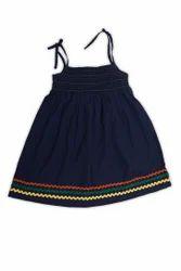 Organic Cotton Sleeveless Smoked Summer Dress