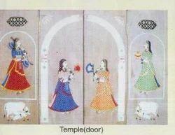 Natural Wood Wooden Inlay On Temple Door, For temples doors