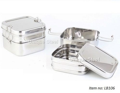 785faae8fc24 Square Stainless Steel Lunch Box - Unique Steel, Chennai | ID ...