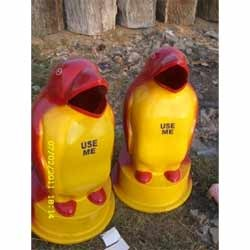 FRP Small Penguin Dustbin