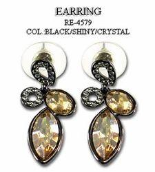 Glass Stone Earring In Topaz
