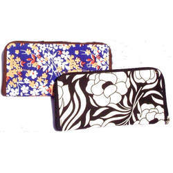 Ladies Printed Fabric Made Wristlet Wallets