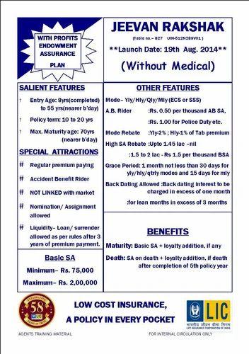 LIC Policy, Life Insurance Policies, जीवन बीमा in ...