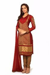 Ladies Silk Suit - Printed Silk Suits Retailer from Delhi