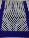 Silk Wool 4 Side Dyed Border With Polka Dot Printed Stoles