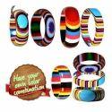 Multi Layered Multi Color - Resin Bangle Bracelets Cuffs