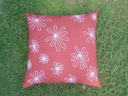 Magenta Flower Cushion Cover