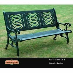three seater bench with floral back