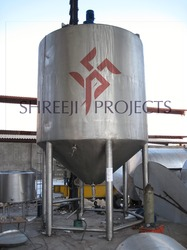 Shreeji Projects Jacketed Blending Tank, Capacity: 0-250 L