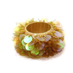 Yellow VM Handicraft Unique Napkin Ring, Size: 2 Inch, Packaging Type: 80 Pcs In Inner