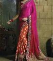 Pink And Red Saree