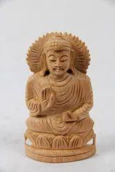 Wooden Sitting Kamal Buddha