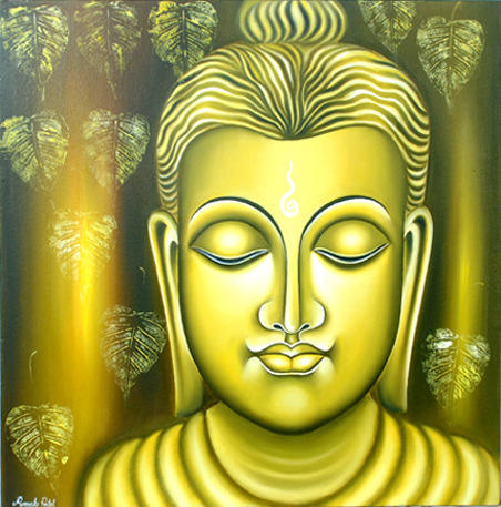 lord buddha painting at rs 6500 spiritual buddha paintings id