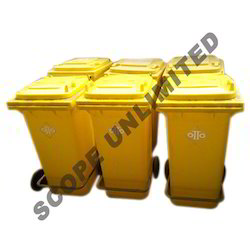 Foot Pedal Dustbin with Wheel