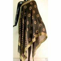 Black Silk Dupatta