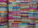 Brocade Sari Border Patchwork Kantha Quilt