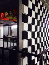 Black and White 3D Acoustic Wall Panel