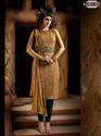 Golden Georgette Salwar Kameez